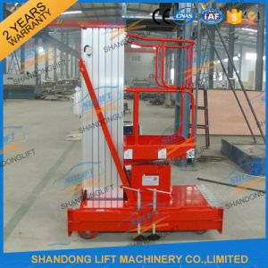 10m Mobile Single Mast Aluminum Lift for One Man Lift pictures & photos