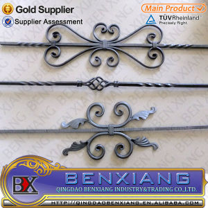 Wrought Iron Fence Railing Forged Pickets pictures & photos