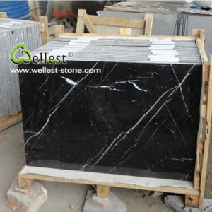 China Natural Nero Marquina Black Marble with White Veins pictures & photos