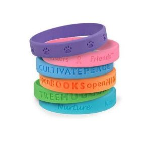 Rubber Lovely Wristbands Personalized Wrist Band Customized Silicone Bracelet Wristbands pictures & photos