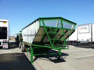 China Brand 50 Tons Pay Loading Harvesting Trailer pictures & photos