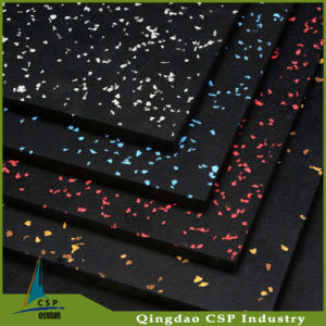 High Quality Crossfit Rubber Flooring with Colorful Speckled pictures & photos