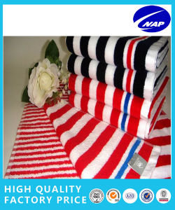 100% Cotton Comed Yarn Dyed Printed Beach Towel