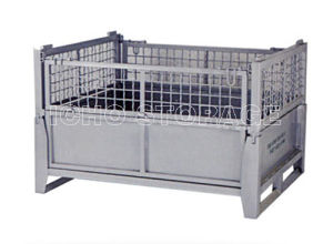 Warehouse Storage Galvanized Foldable Collapsible Stacking Wire Mesh Pallet Container pictures & photos