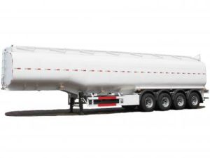 Steel Fuel Tanker Semi-Trailer 4 Axles Tank Capacity 55000L to 72000L