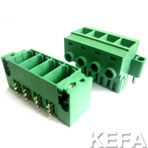 UL Approved Pluggable Terminal Block with Gold Plated Pin Header pictures & photos