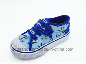 Low Top Canvas Casual Children Sneaker (ET-LH160266K) pictures & photos