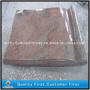 Multicolor Red Granite Book Style Tombstones for Cemetery pictures & photos
