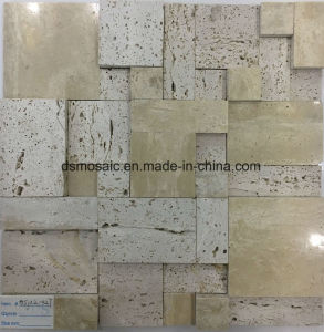 Irregular Natural Style Marble Stone Mosaic Tile pictures & photos