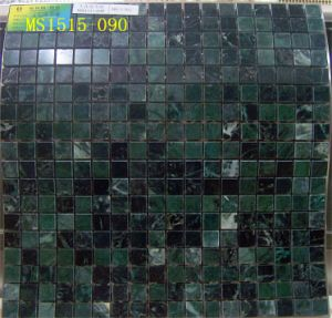 300*300mm Green Color Marble Mosaic (MS1515-090) pictures & photos