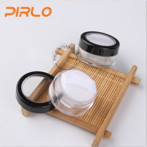 5g 5ml Transparent Plastic Cosmetic Jar with Powder Puff pictures & photos
