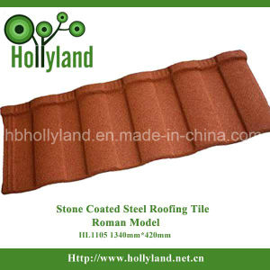 Villa Building Material Stone Coated Steel Roofing Tile (Roman Type) pictures & photos
