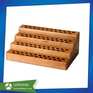 Custom 4 Tier Wooden Rack Shelf Display Lipstick Holder pictures & photos