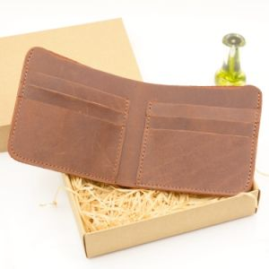 2016 Brown Cow Leather Women Wallet Credit Card Men Wallet pictures & photos