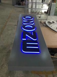 Outdoor Waterproof Company Illuminated 3D Copper Painted Logo LED Sign pictures & photos