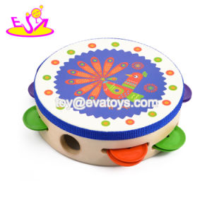 Wholesale Cheap Kids Wooden Tambourine Instruments for Sale W07f031 pictures & photos