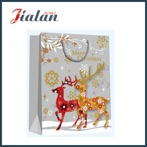 Wholesale Cartoon Design Christmas Gift Packing Shopping Carrier Paper Bags pictures & photos
