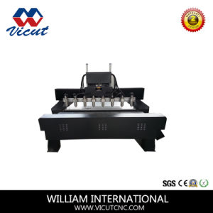Multi-Spindle CNC Wood Machine with Rotary Axis (Vct-1525fr-4h) pictures & photos