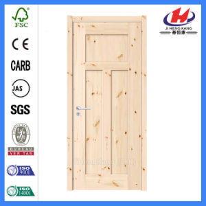 Entrance Wooden Solid Wood Haker Moulded MDF/HDF Knotty Door (JHK-3018) pictures & photos
