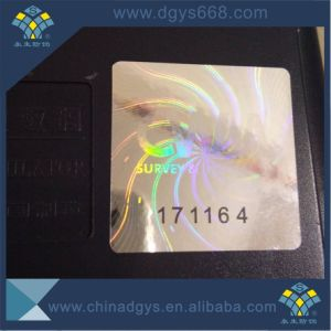 Custom Black Serial Numbers Laser Sticker for Garment pictures & photos