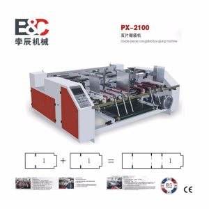 Semi Automatic Corrugated Board Folder Gluer Machine/Double Pieces Glue Machine pictures & photos