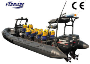 Funsor Fiberglass Hull Large Military Boat (FQB-R900) pictures & photos