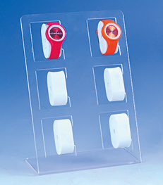 Square Standing 6 Holes EVA Display Watch Placed Plastic Watch Stand pictures & photos
