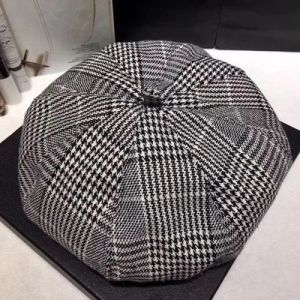 Custom Fashion Check Pattern Newsboy Cap Hat Beret pictures & photos