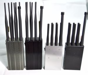 Hot Selling 8 Antenna Cell Phone + GPS Signal Jammer Blocker with Cooling System, Handheld Cell Phone GPS Jammer pictures & photos