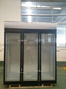 Triple Glass Door Energy Drink Refrigerator pictures & photos