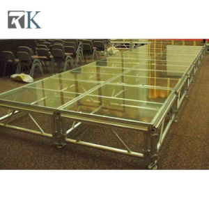 Portable Aluminum Stage with Black Carpet Deck for Event (RK-ASP1X1P) pictures & photos