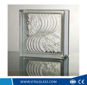 Building Grade Sea Wave Pattern Glass Brick pictures & photos