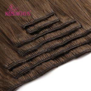 Clip in Hair Virgin Human Hair Brazilian Remy Hair Extension pictures & photos