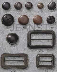 Leather Buttons/Buckles with Different Shapes and Sizes