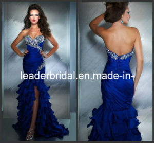 Sweetheart Strapless Prom Dress Mermaid Chiffon Evening Formal Gown E14631 pictures & photos