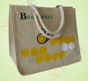 Fashion Printed Logo Shopping Handbag Jute Gunny Bag pictures & photos