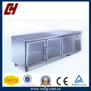 Glass Door Stainless Steel Work Table Freezer pictures & photos