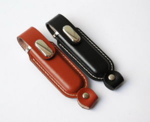 in Stock Full Capacity Leather USB Thumb Drive pictures & photos