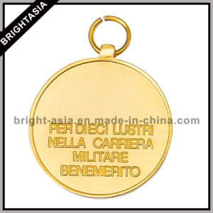Gold Metal Custom Medal Low Prices with Wordage (BYH-101043) pictures & photos
