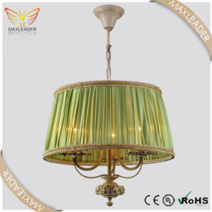 pendant light fixture green fabric antique E14 chandelier (MD7377)