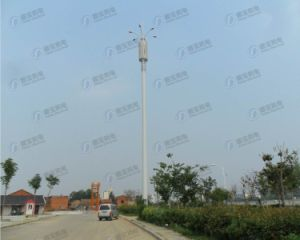 Galvanized Telecommunication Lighthouse Steel Tower