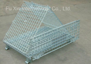 Wire Steel Storage Container Cage Pallet pictures & photos