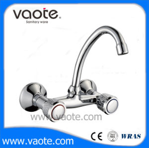 Double Handle Wall Mounted Kitchen Faucet (VT60302) pictures & photos