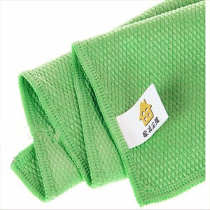 Microfiber Cleaning Towel, Diamond Shape Weaving, Weight: 300G/M2 pictures & photos