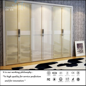 High Glossy White Colour Open Door Wardrobe (FY564) pictures & photos