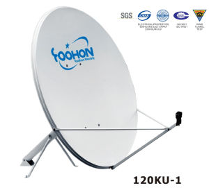 120cm Satellite Dish Antenna with RMS Errror Certification pictures & photos