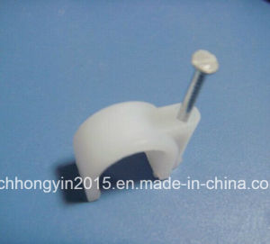 Electrical Wire Plastic Round Circle Nail Cable Clips pictures & photos