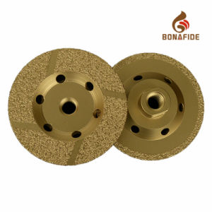 "Vacuum Brazed Diamond Grinding Wheel with M14 or 5/8""-11 pictures & photos"