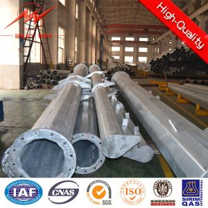 220kv Angle Transmission Galvanized Pole in Africa pictures & photos
