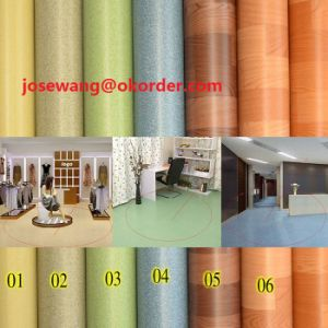 Living Room PVC Flooring 0.35mm 1.2mm Roll pictures & photos